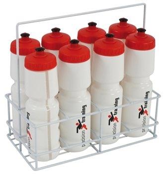8 water bottles plus carrier -0