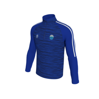 Carrick Town FC Melange 1/4 Zip Training Top BLUE-0