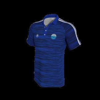 Carrick Town FC Blue Melange Polo-0