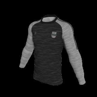 Raheny United Club Sweat Shirt Melange black and grey -0