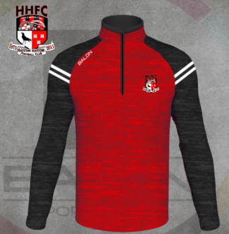 Hartstown Huntstown FC Black & Red Melange 1/4 Zip Training Top-0
